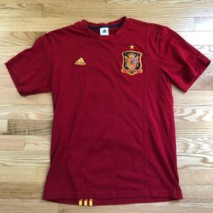 Adidas Spain Crest Short Sleeve Cotton Tee Size M